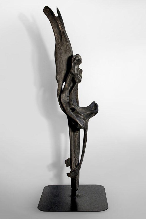 Skulptur Wolf E. Schultz, Mooreiche